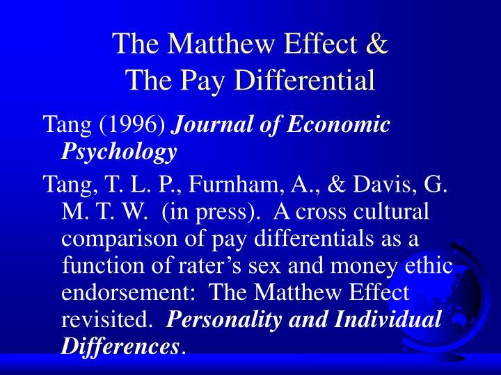 The Matthew Effect &