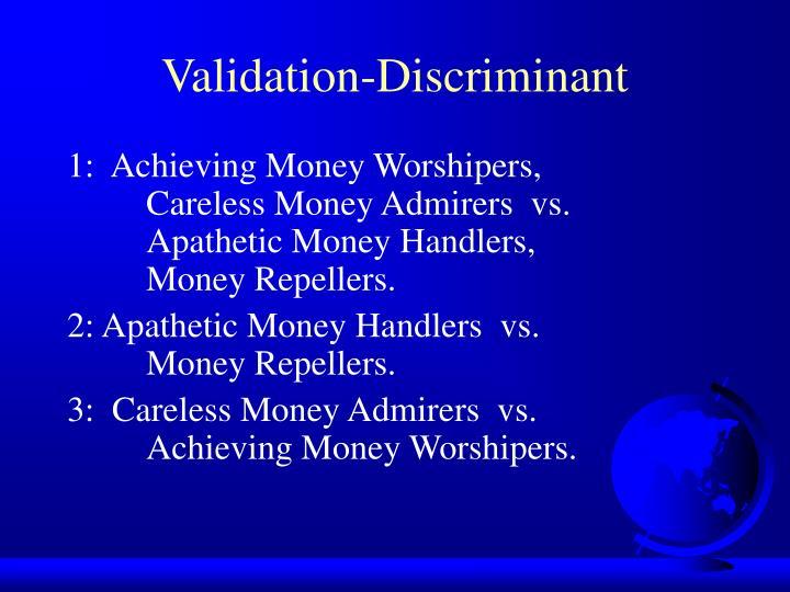 Validation-Discriminant