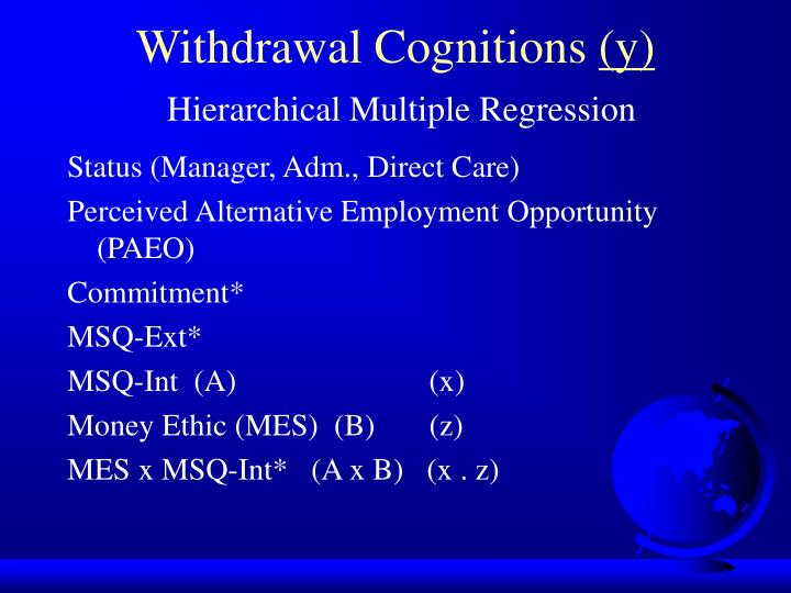 Withdrawal Cognitions