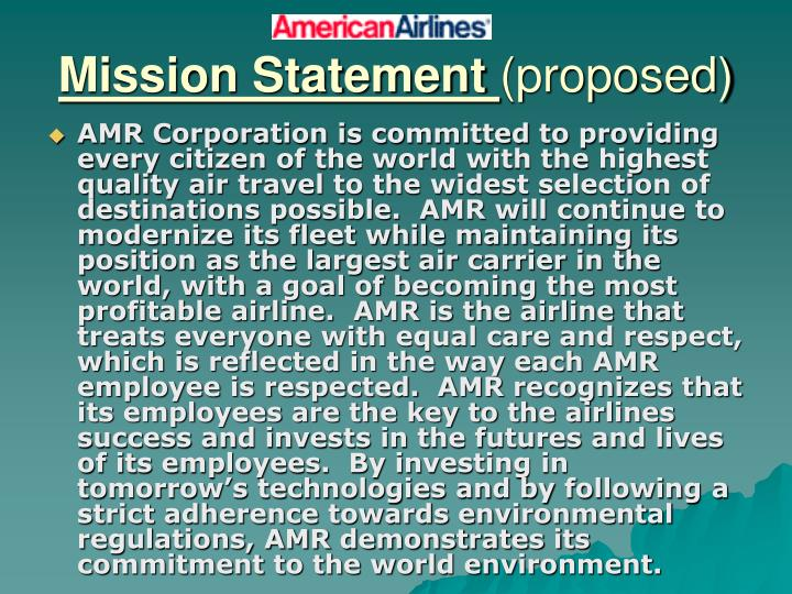 mission statement proposed