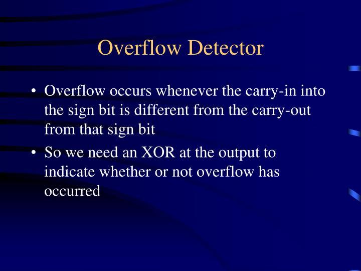 Overflow Detector
