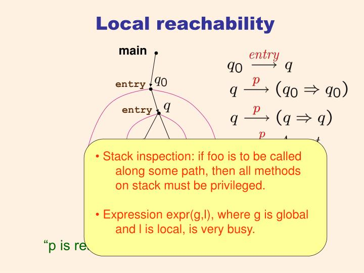 Local reachability