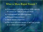 what is mass rapid transit