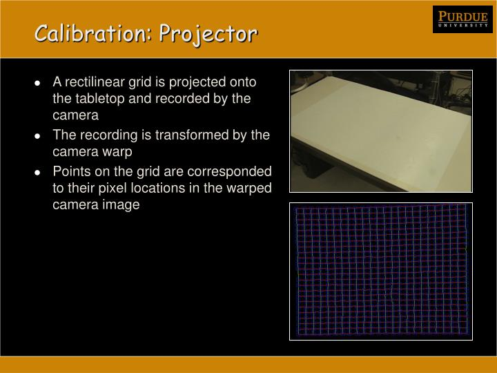 Calibration: Projector