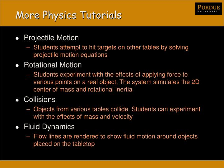 More Physics Tutorials