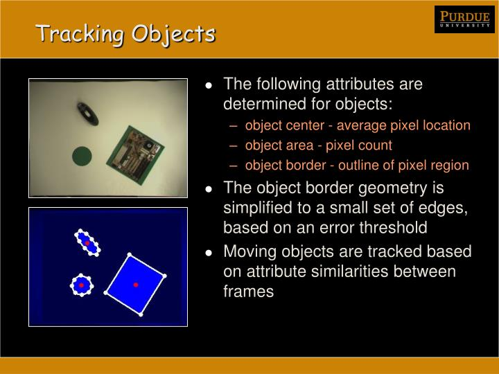 Tracking Objects