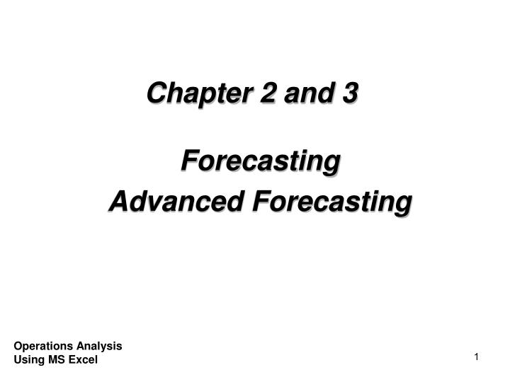 Chapter 2 and 3