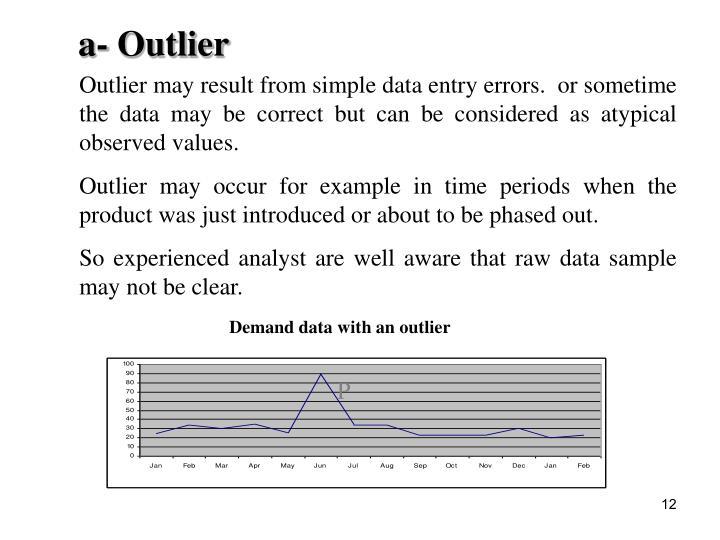 a- Outlier