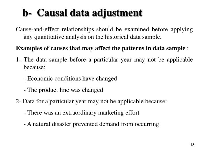 b-  Causal data adjustment