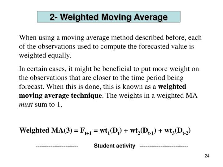 2- Weighted Moving Average