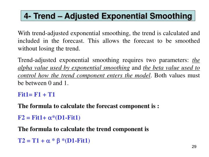 4- Trend – Adjusted Exponential Smoothing