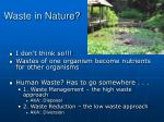 waste in nature