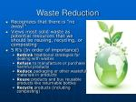 waste reduction