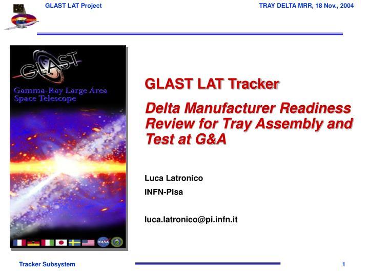 GLAST LAT Tracker
