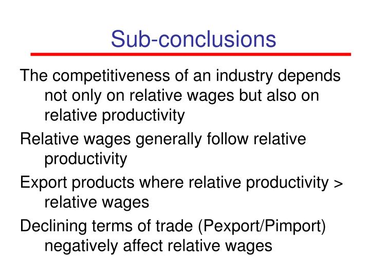Sub-conclusions