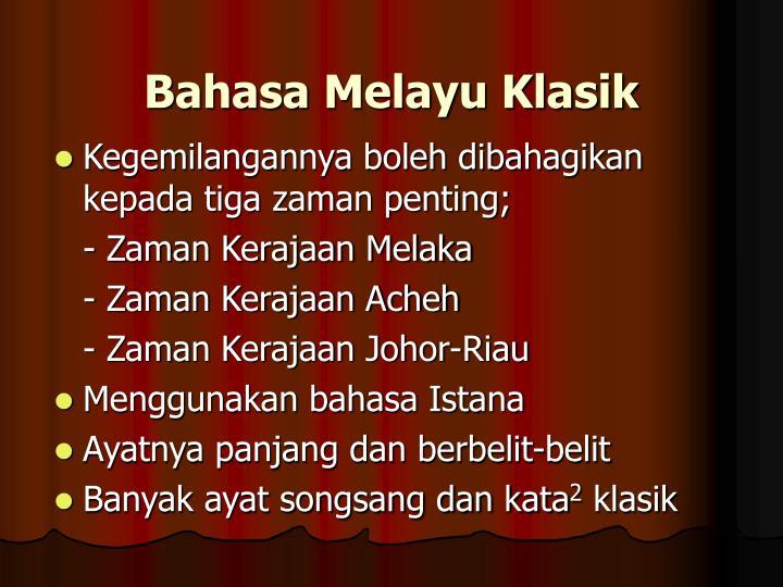 Bahasa Melayu Klasik