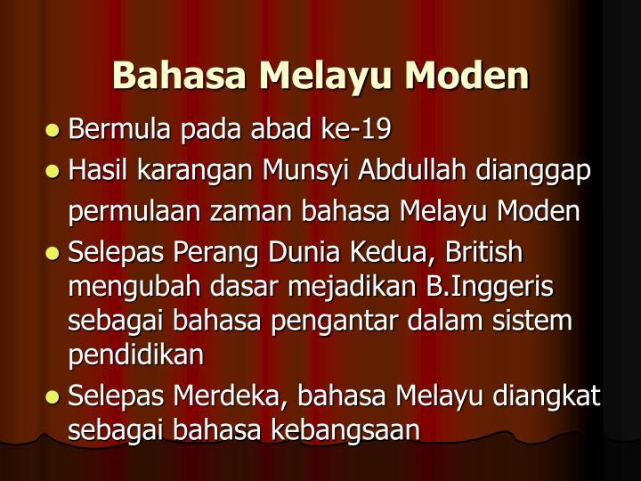 Bahasa Melayu Moden