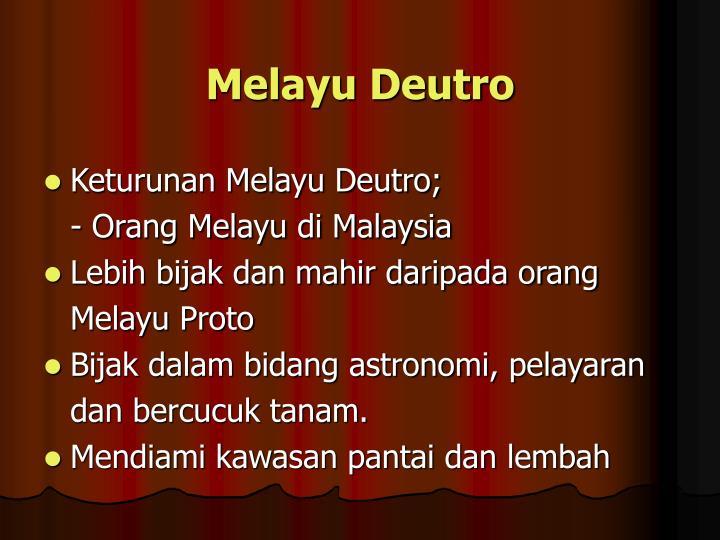 Melayu Deutro