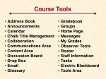 course tools