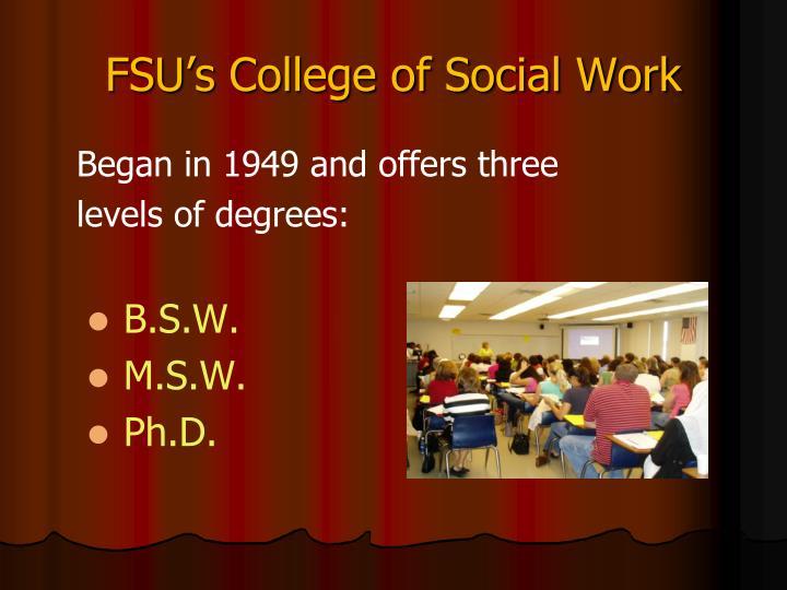 FSU's College of Social Work