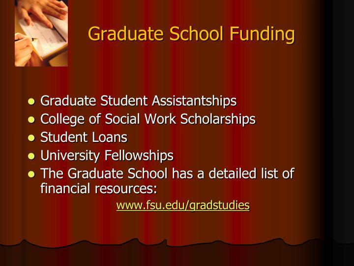 Graduate School Funding
