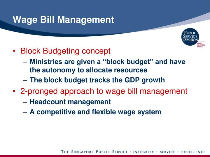 Wage bill management