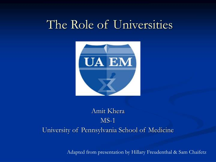 the role of universities n.