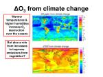 o 3 from climate change
