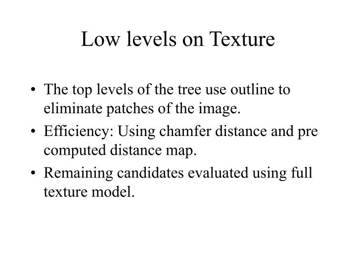 Low levels on Texture