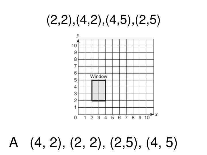 (2,2),(4,2),(4,5),(2,5)
