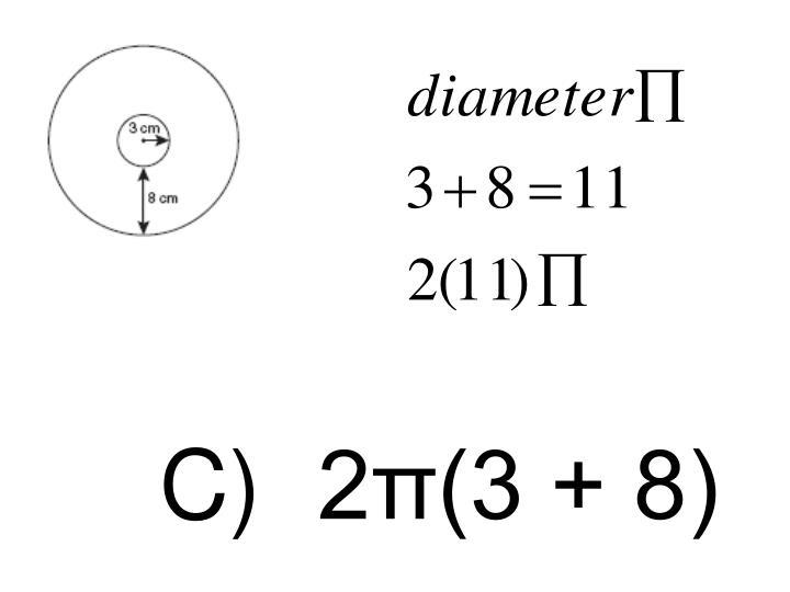 C)2π(3 + 8)