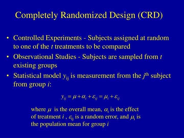 Completely randomized design crd