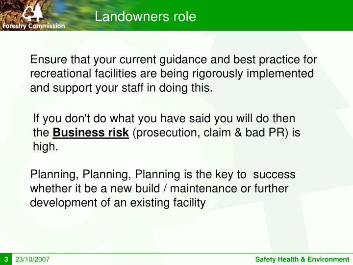 Landowners role