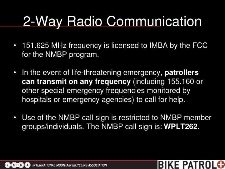 2-Way Radio Communication