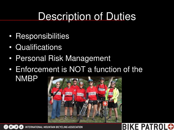 Description of Duties