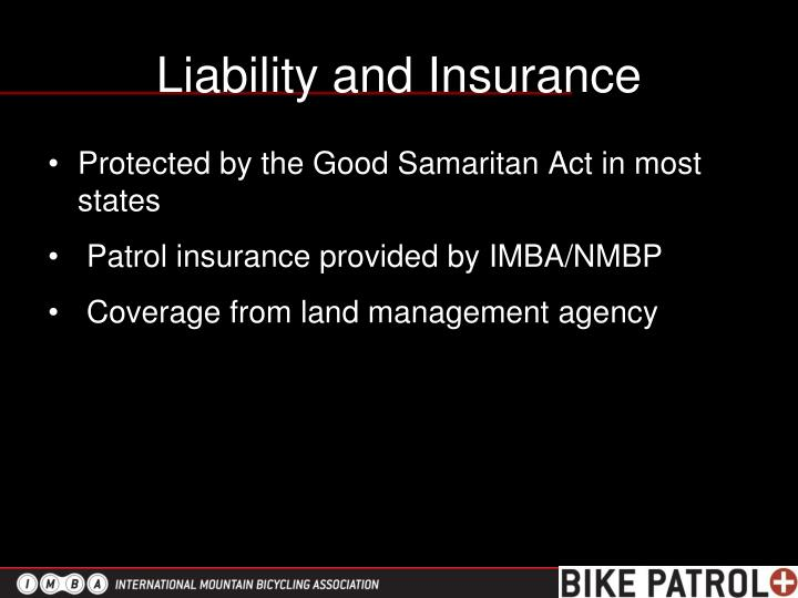 Liability and Insurance