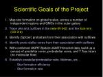 scientific goals of the project