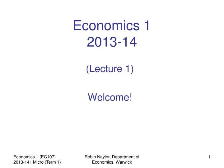 Economics 1 2013 14