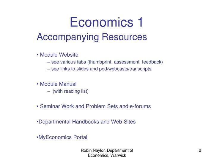 Economics 1