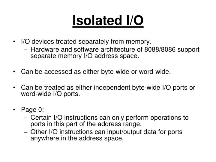 Isolated I/O