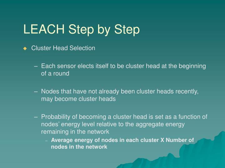LEACH Step by Step
