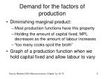 demand for the factors of production8