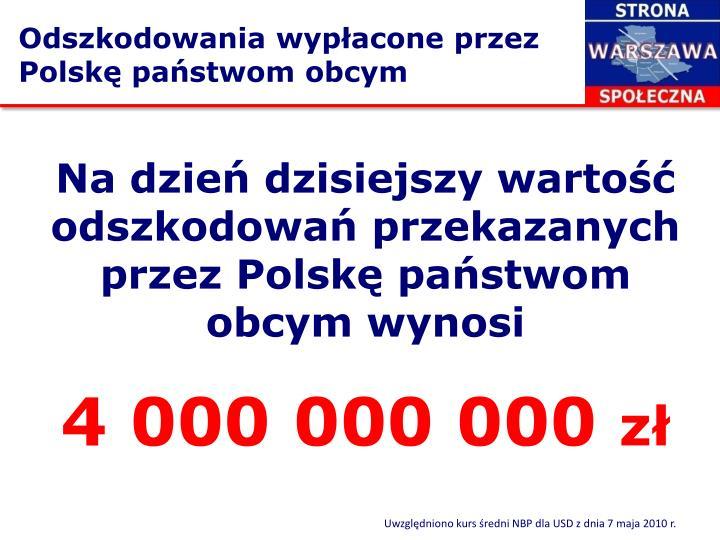 Odszkodowania wypłacone przez Polskę państwom obcym