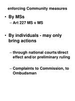 enforcing community measures1