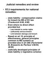 judicial remedies and review1