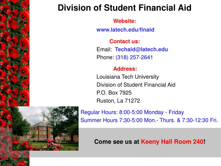 Division of Student Financial Aid