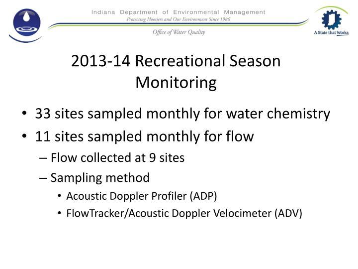 2013-14 Recreational Season Monitoring