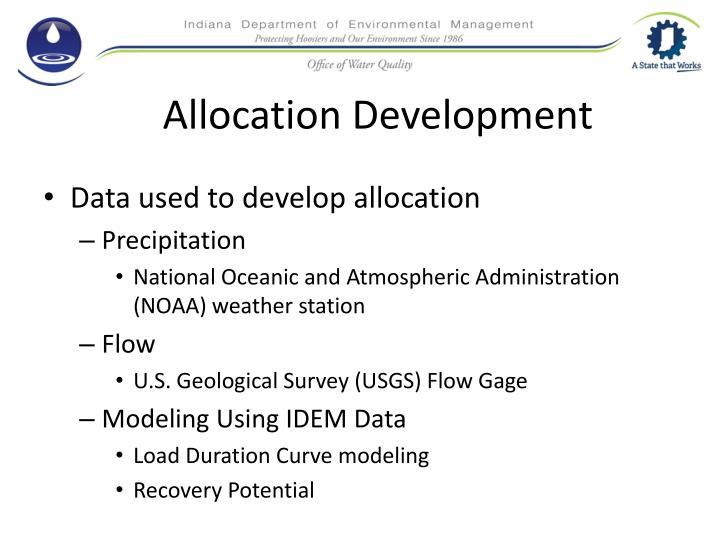 Allocation Development