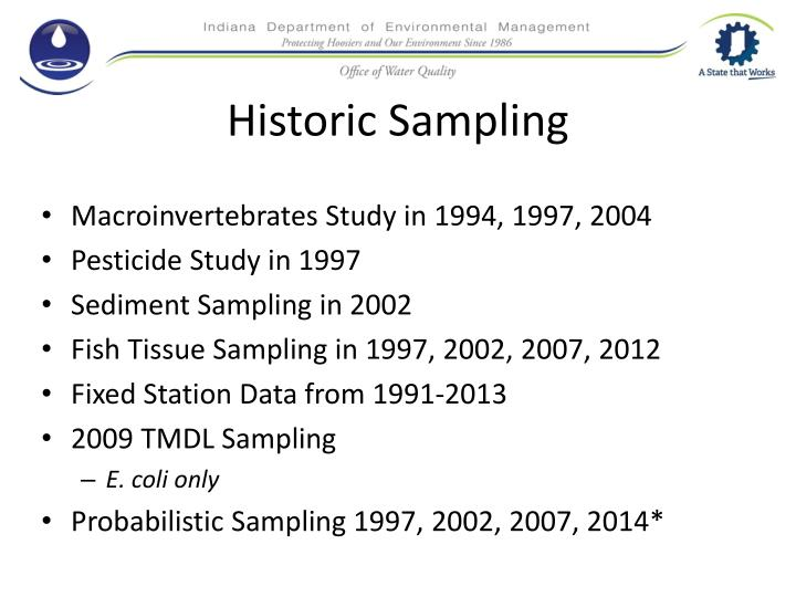 Historic Sampling