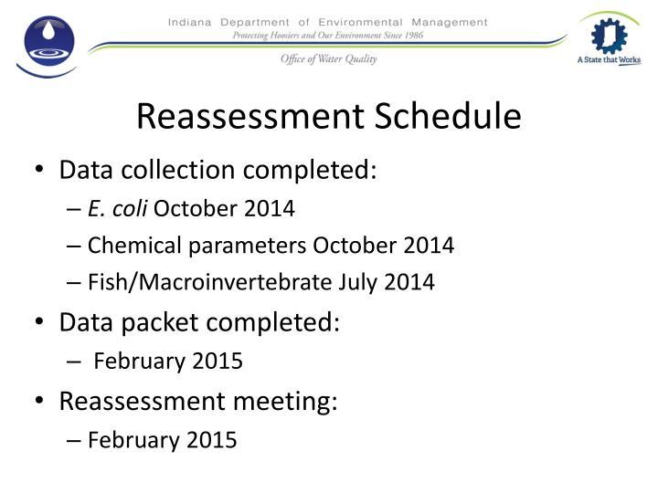 Reassessment Schedule